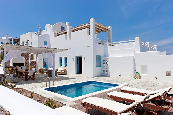 luxury santorini villa