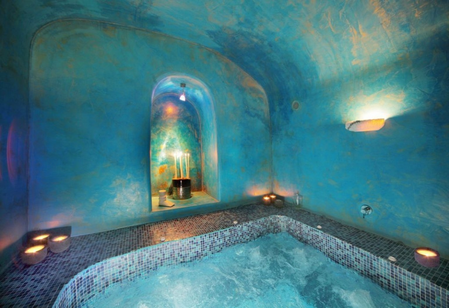 Greek Home Interiors Blue Angel Villa In Santorini