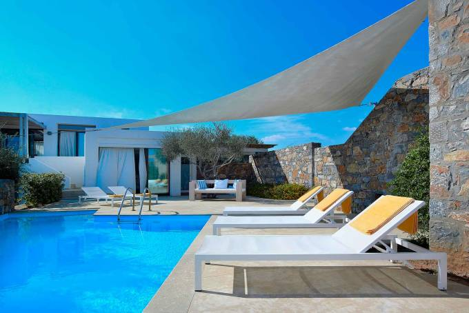 Crete luxury villa Olives House in Agios Nikolaos