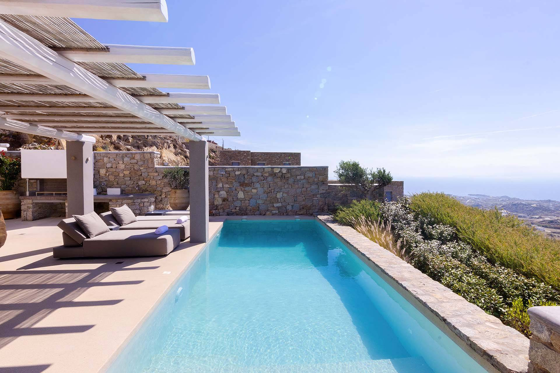 Mykonos luxury villa Germaine in Kounoupas