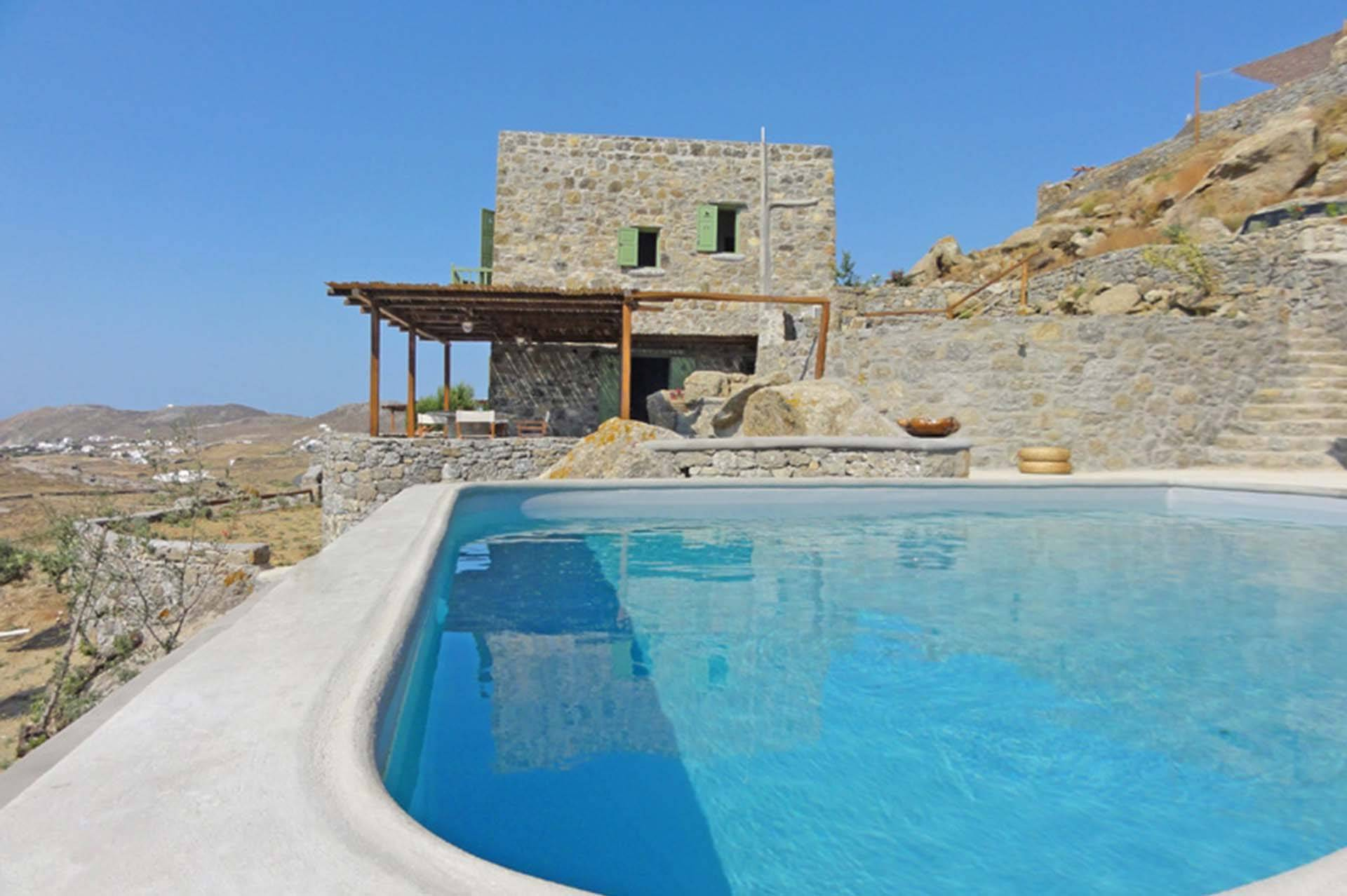 Mykonos luxury villa Irida in Kalafati