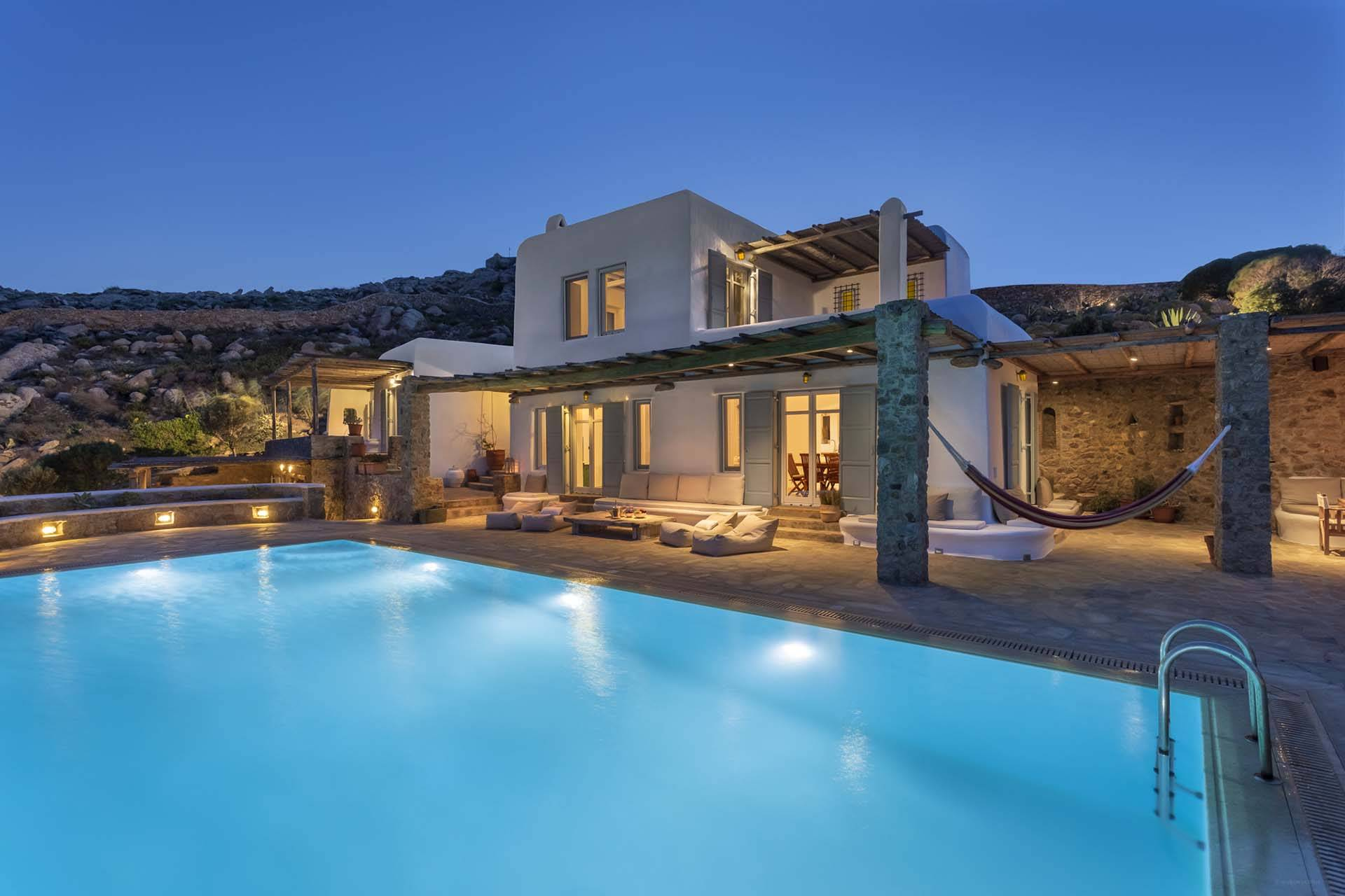 Mykonos luxury villa Cynthia Blue in Agrari
