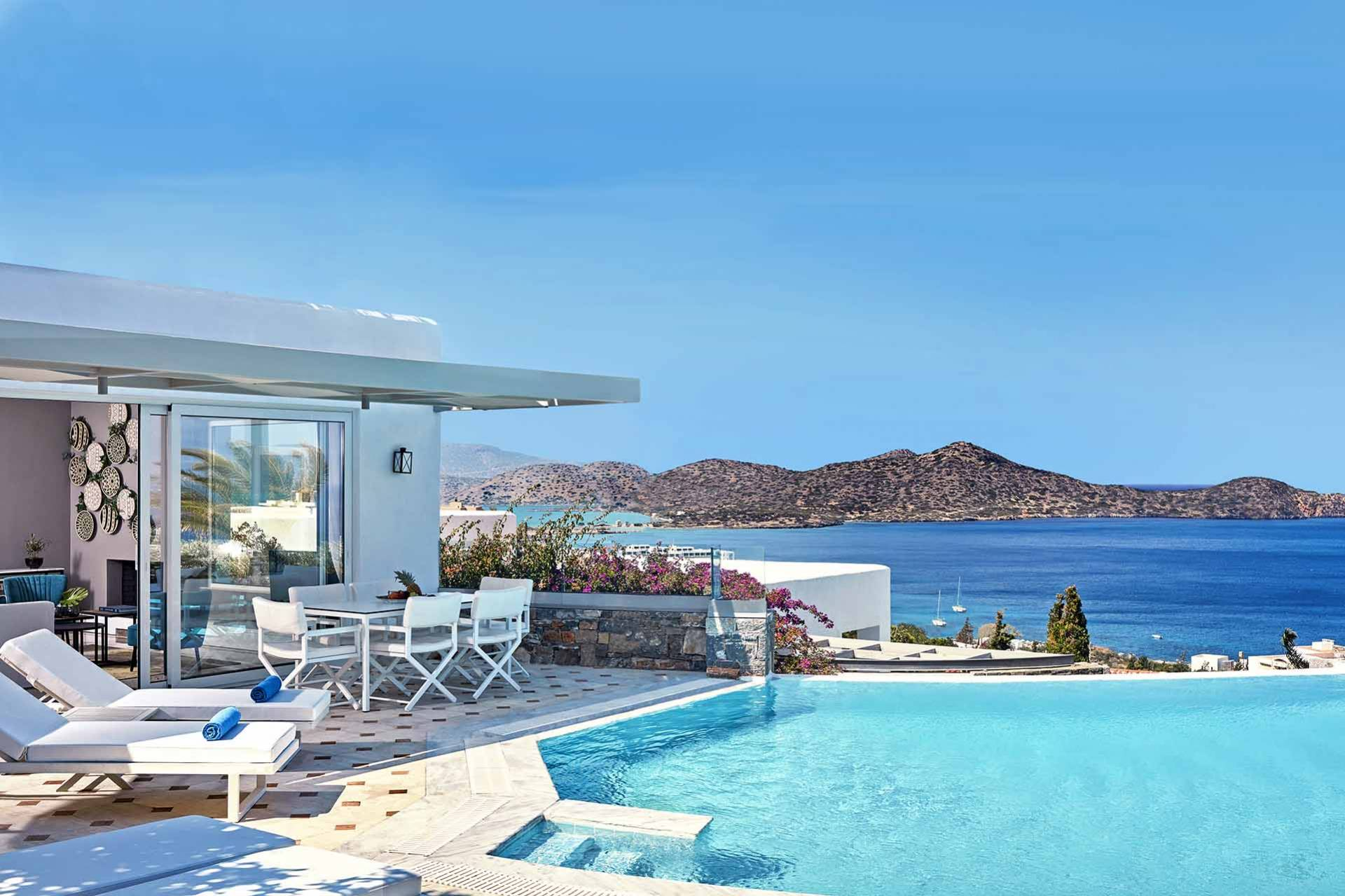 Crete luxury villa Mediterranean Pool in Elounda