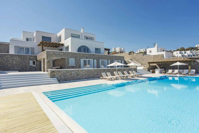 Mykonos luxury villa Psarou Delight in Agios Lazaros