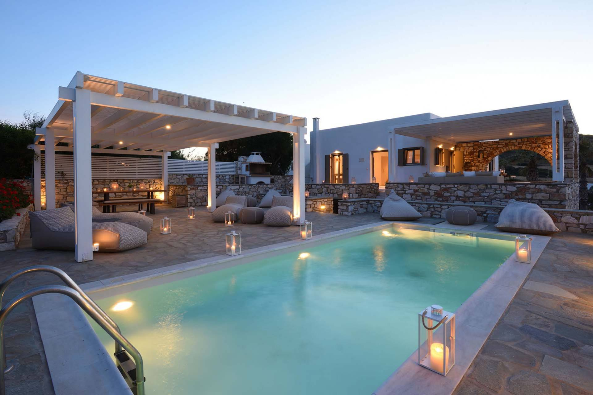 Paros luxury villa Almyra in Ambelas
