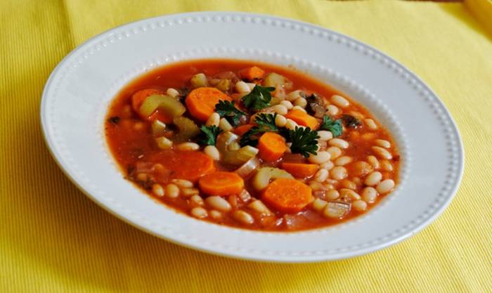 Fasolada: the Original Greek-Style Bean Soup | Taste the Blue