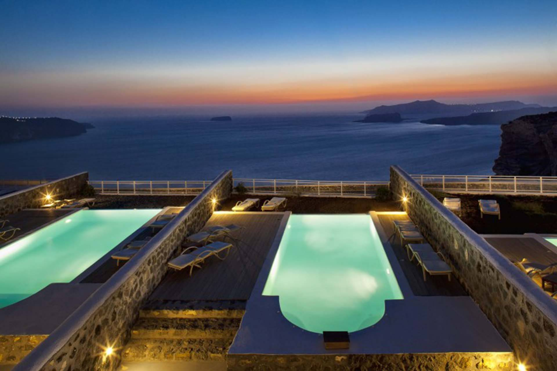 Santorini luxury villa Hestia in Megalochori