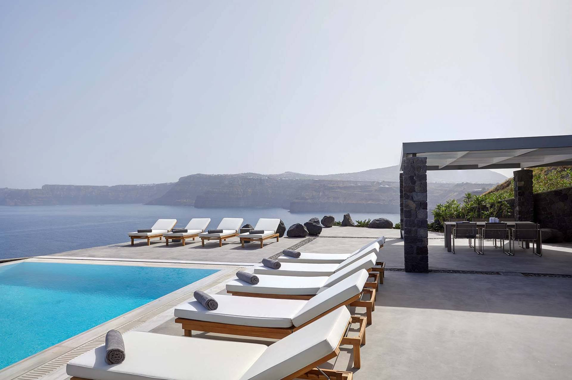 Santorini luxury villa Royal Blue in Akrotiri