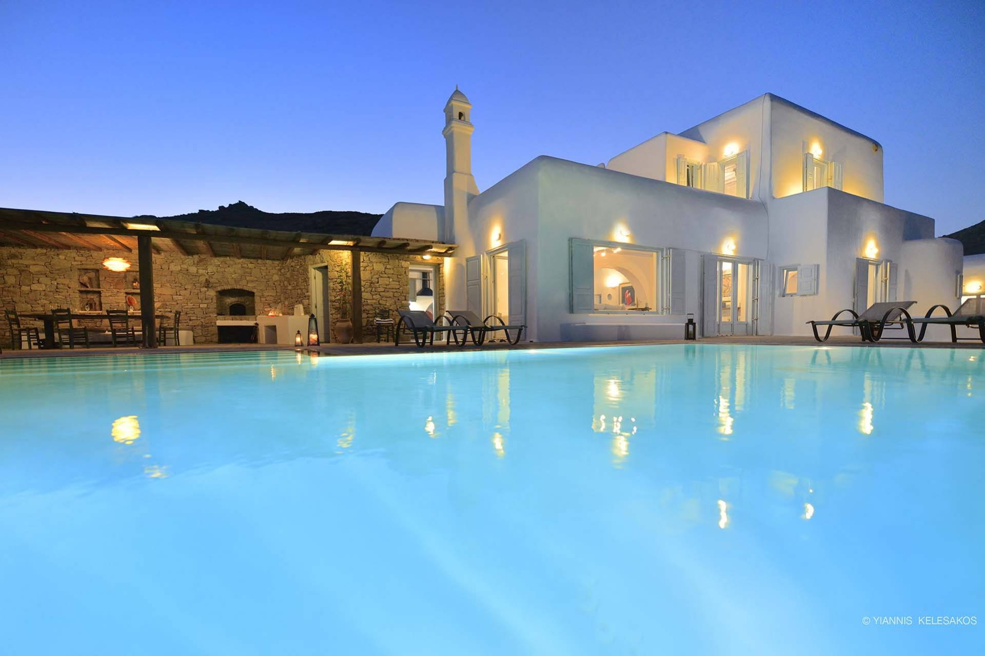 Mykonos luxury villa Aethra in Lia