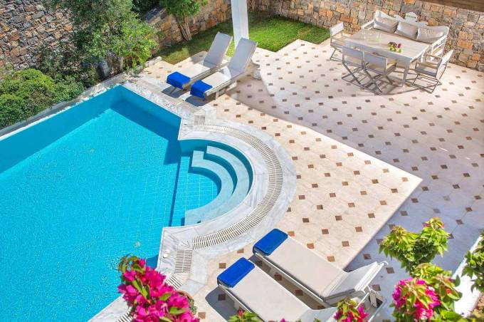 Crete luxury villa Aegean Pool in Elounda