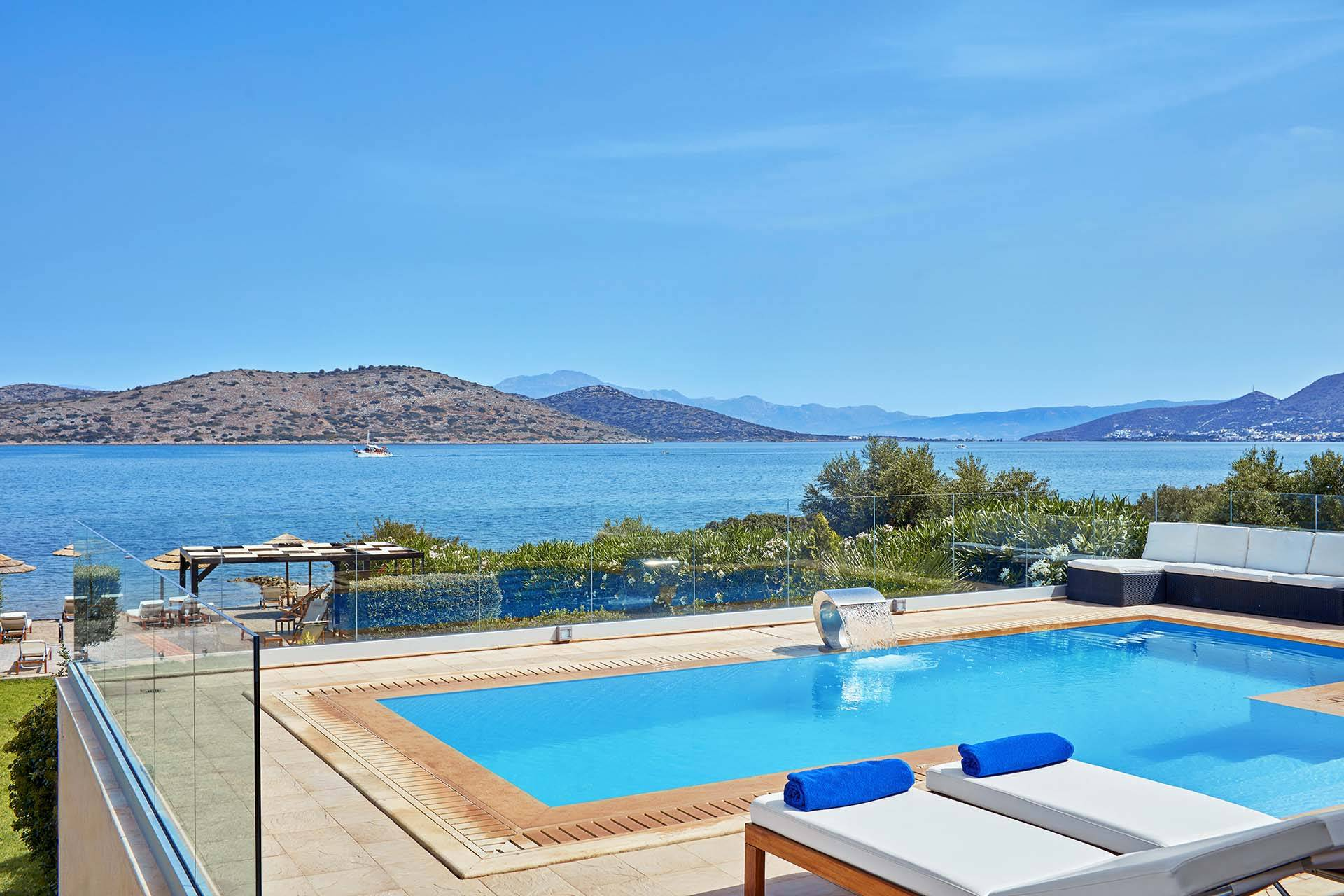 Paros luxury villa Elounda Beachfront in Elounda