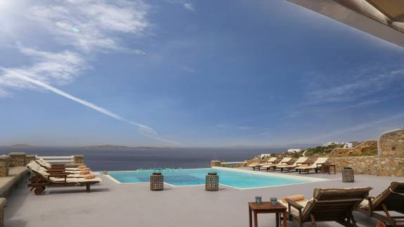 Mykonos luxury villa Delos View in Houlakia