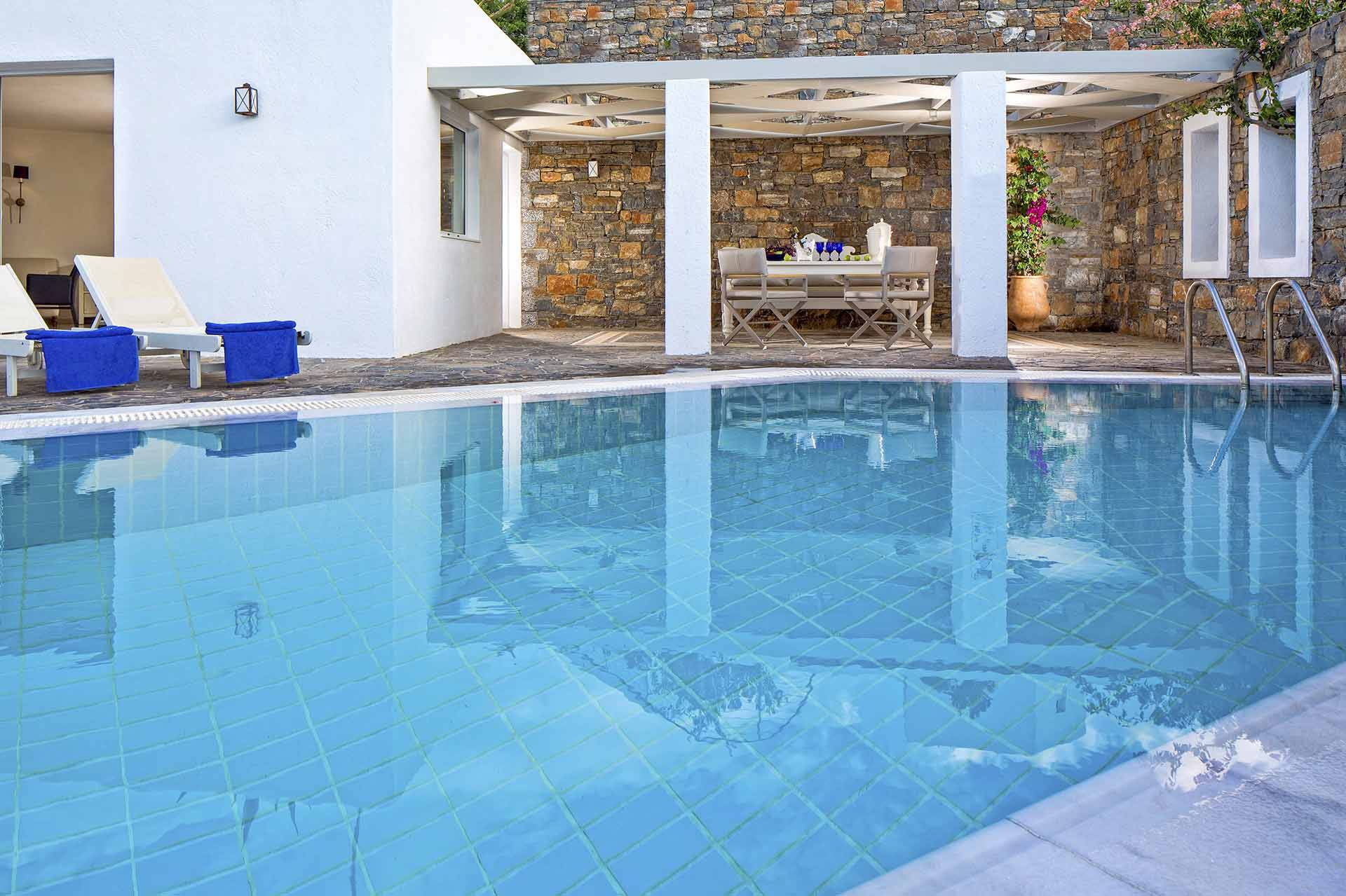 Crete luxury villa Elounda Pool in Elounda